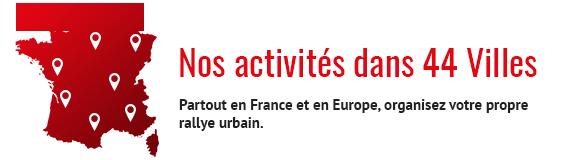 Organisez un City Rallye dans l'une des nombreuses villes proposées par Citeamup